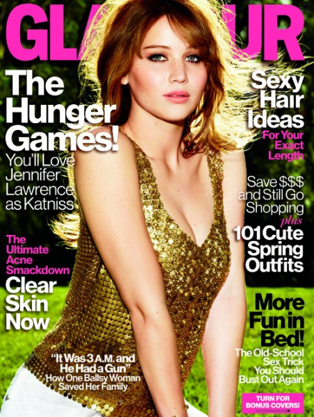 Cover Girl: Jennifer Lawrence for the April 2012 issue of GLAMOUR!