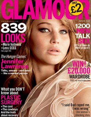 Cover Girl: Jennifer Lawrence Shows Off Her Softer Side for Glamour UK!