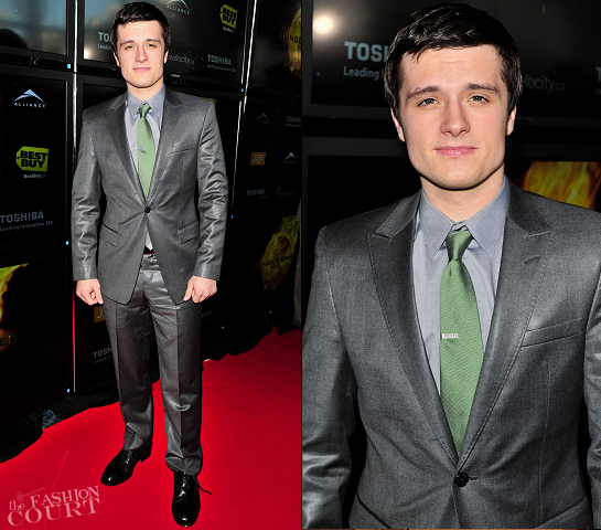 Josh Hutcherson in Emporio Armani | 'The Hunger Games' Toronto Premiere