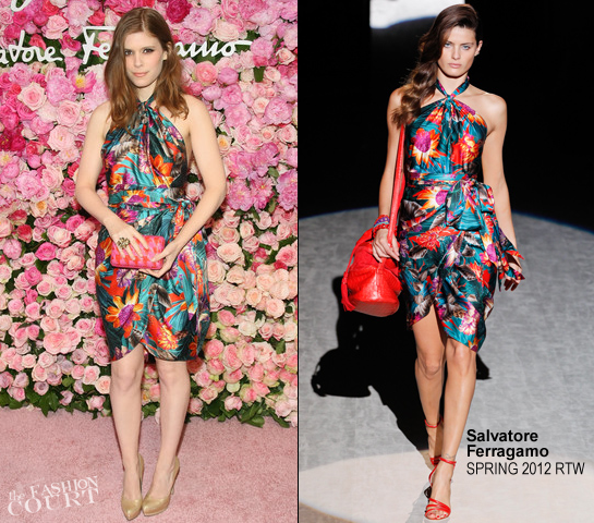 Kate Mara in Salvatore Ferragamo | Salvatore Ferragamo Celebrates The Launch Of Signorina