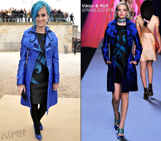 Katy Perry in Viktor & Rolf | Paris Fashion Week: Fall 2012 - Viktor & Rolf