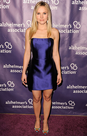 Kristen Bell in Reem Acra | 20th Anniversary Alzheimer's Association 'A Night At Sardi's'