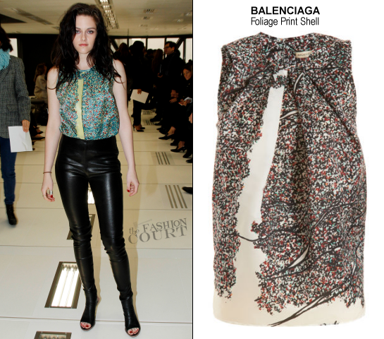 Kristen Stewart in Balenciaga | Paris Fashion Week: Fall 2012 - Balenciaga