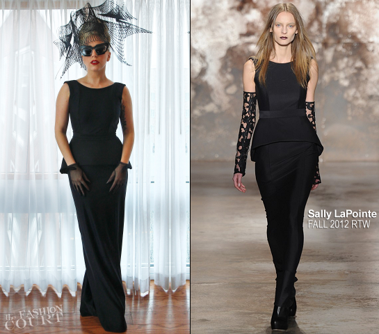 Lady Gaga in Prabal Gurung & Sally LaPointe | Promoting the Born This Way Foundation at Harvard University