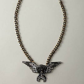Lanvin Wing Pendant Necklace, Long
