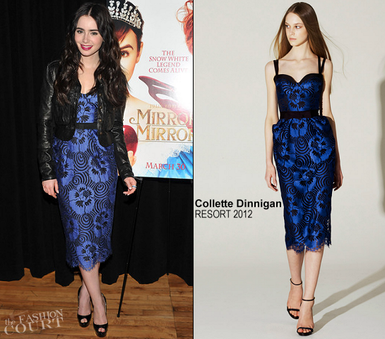 Lily Collins in Collette Dinnigan | Apple Store Soho Presents Meet The Actor