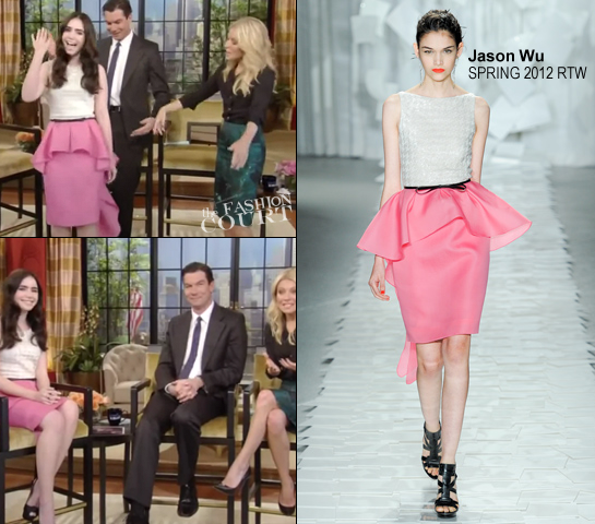 Lily Collins in Jason Wu | 'Live with Kelly!'