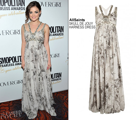 Lucy Hale in AllSaints | Cosmopolitan Fun Fearless Men And Women Of 2012 Awards