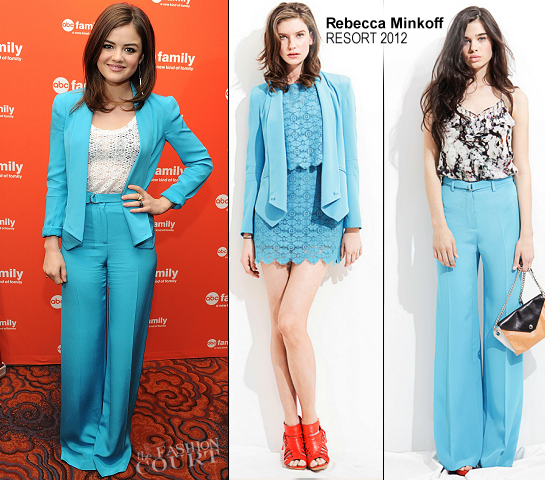 Lucy Hale in Rebecca Minkoff | 2012 ABC Family Upfront