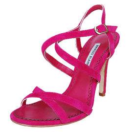 Manolo Blahnik Criss-Cross Strappy Sandals