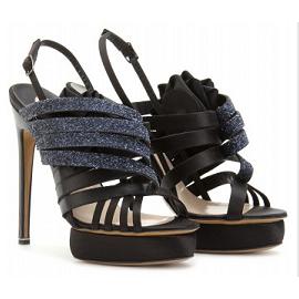 Nicholas Kirkwood Glitter Strappy Sandals