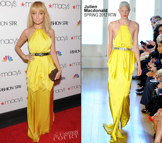 Nicole Richie in Julien Macdonald | Macy's Celebrates 'Fashion Star'