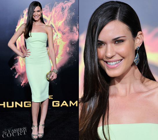 "Odette Annable in Rachel Roy | ""The Hunger Games"" LA Premiere"