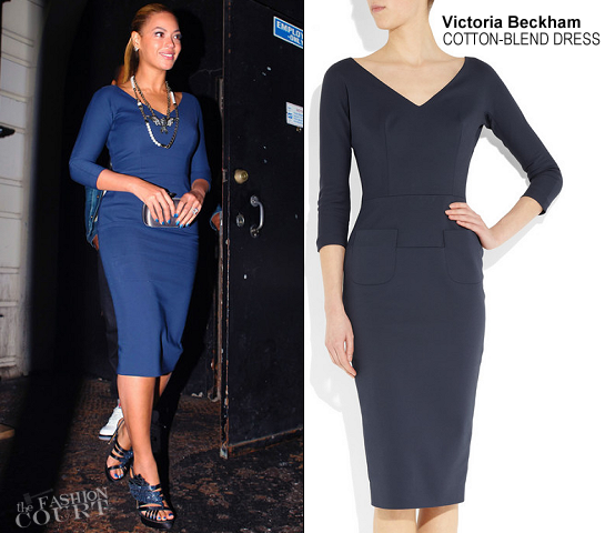 Beyonce Wears Victoria Beckham as She Takes On NYC in Head-to-Toe Blue!