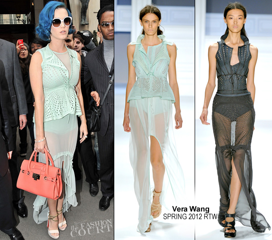 Katy Perry in Vera Wang | Touring France During Paris Fashion Week