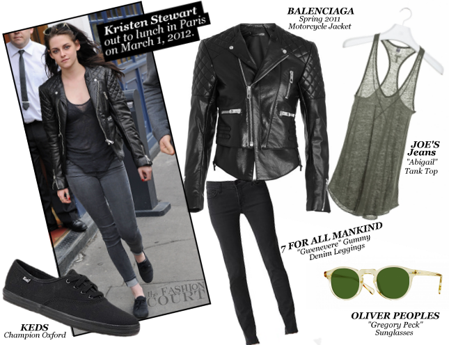Kristen Stewart Takes on Paris in Balenciaga, Joe's Jeans & 7 For All Mankind!