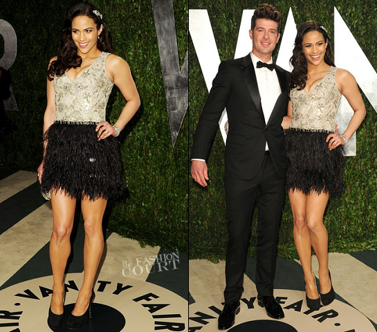 Paula Patton in Naeem Khan | 2012 Vanity Fair Oscar Party