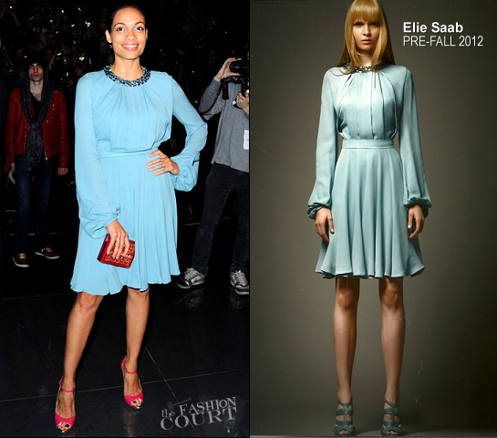 Rosario Dawson in Elie Saab | Paris Fashion Week: Fall 2012 - Elie Saab