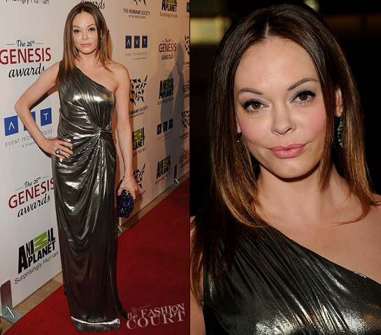 Rose McGowan in Alberta Ferretti | 2012 Genesis Awards