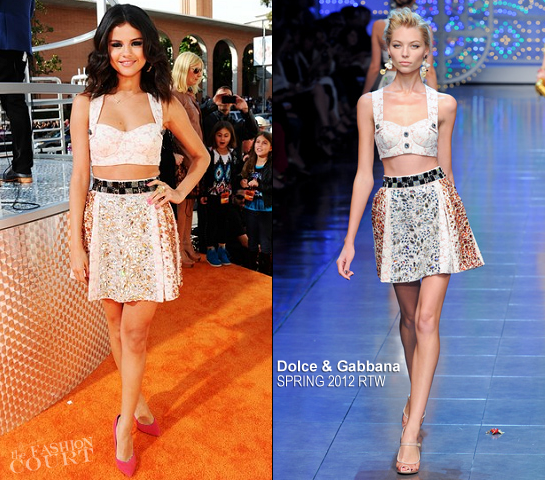 Selena Gomez in Dolce & Gabbana | 2012 Kids' Choice Awards