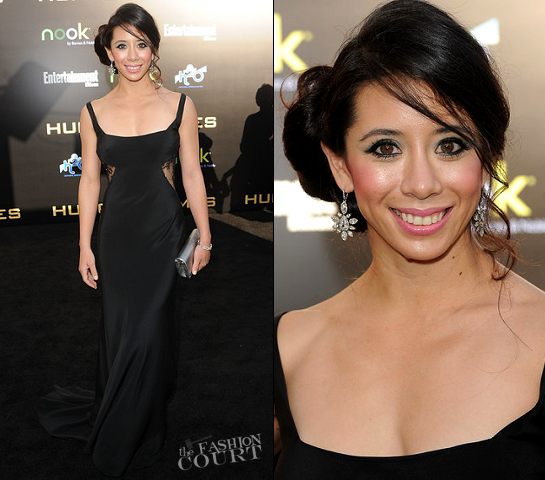 Tara Macken in Kevan Hall | 'The Hunger Games' LA Premiere