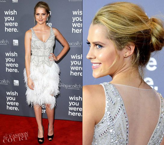 Teresa Palmer in Collette Dinnigan | 'Wish You Were Here' Sydney Premiere