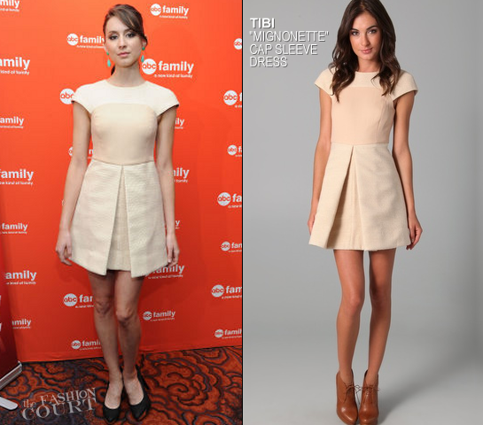 Troian Bellisario in Tibi | 2012 ABC Family Upfront