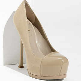 Yves Saint Laurent TRIBTOO Pumps with Cap-Toe