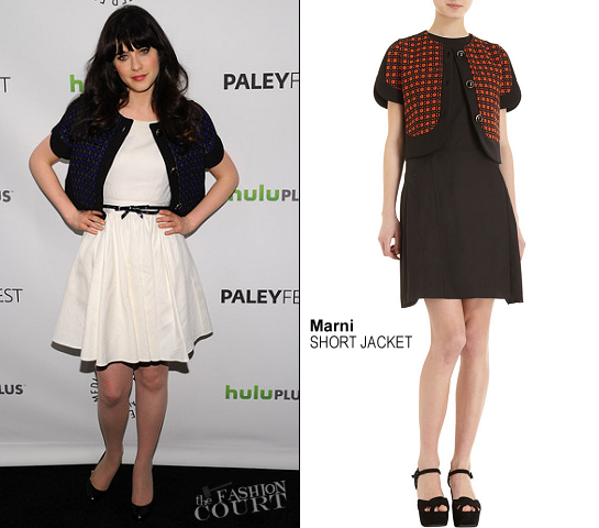 Zooey Deschanel in Rachel Zoe & Marni | PaleyFest 2012 Honoring 'New Girl'