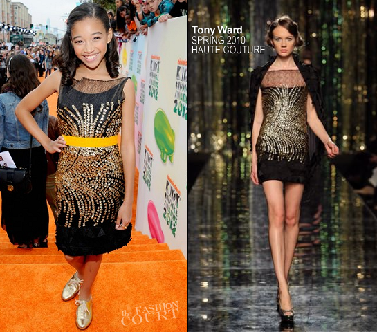 Amandla Stenberg in Tony Ward Couture | 2012 Kids' Choice Awards