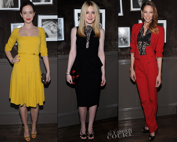 Dakota Fanning, Emily Blunt & Analeigh Tipton Join Elie Saab For a Night at Crown!