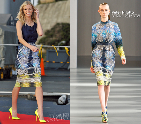 Brooklyn Decker in Peter Pilotto | 'Battleship' Japan Photocall