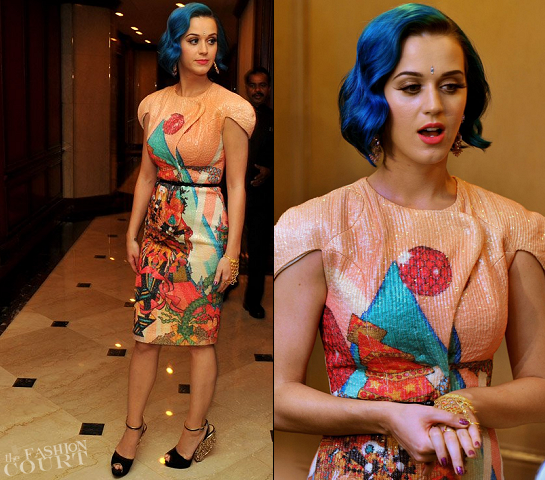 Katy Perry in Manish Arora | Indian Premier League Event